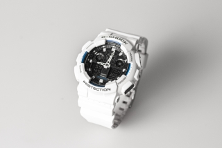 CASIO G-SHOCK GA 100B white